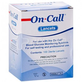 ON CALL PLUS LANCETTE B/100